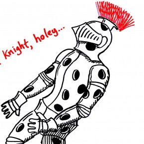 Original Christmas Card #15: Silent Night, Holey Knight