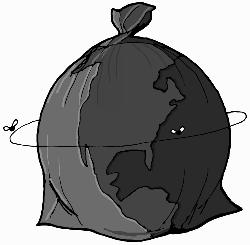It's just a graphic of Bewitching Trash Bag Drawing